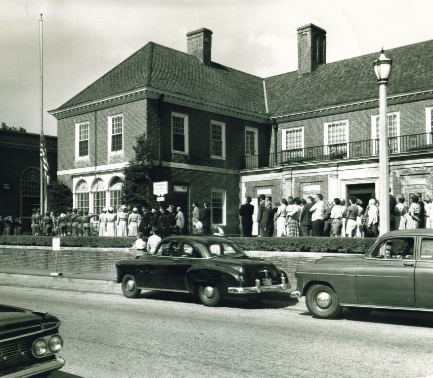 July 4th Flag Raising about 1960