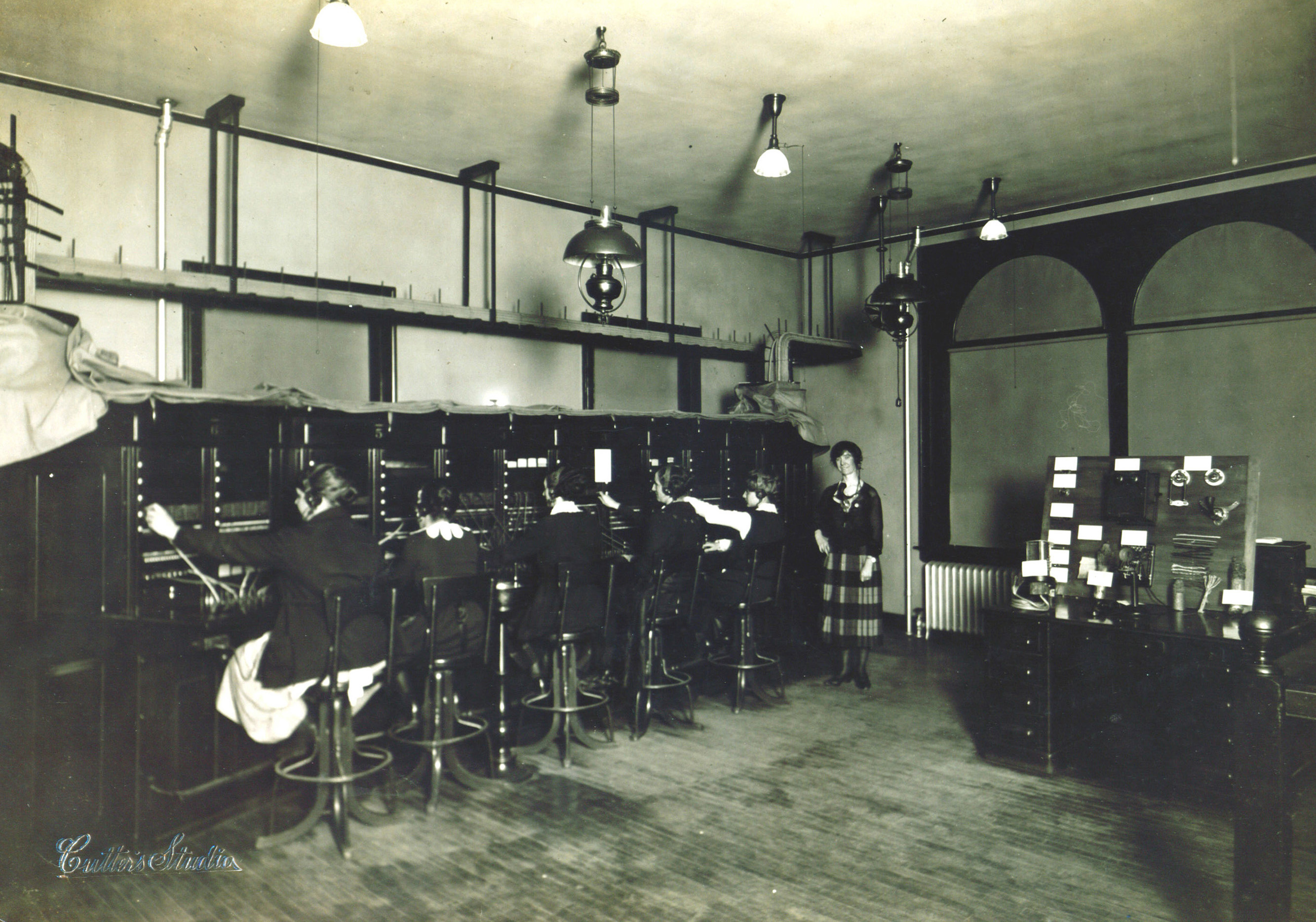 Peterborough Telephone Exchange in the Historical Building about 1925