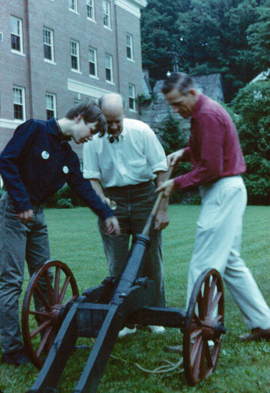 Firing the cannon in the early 1970s