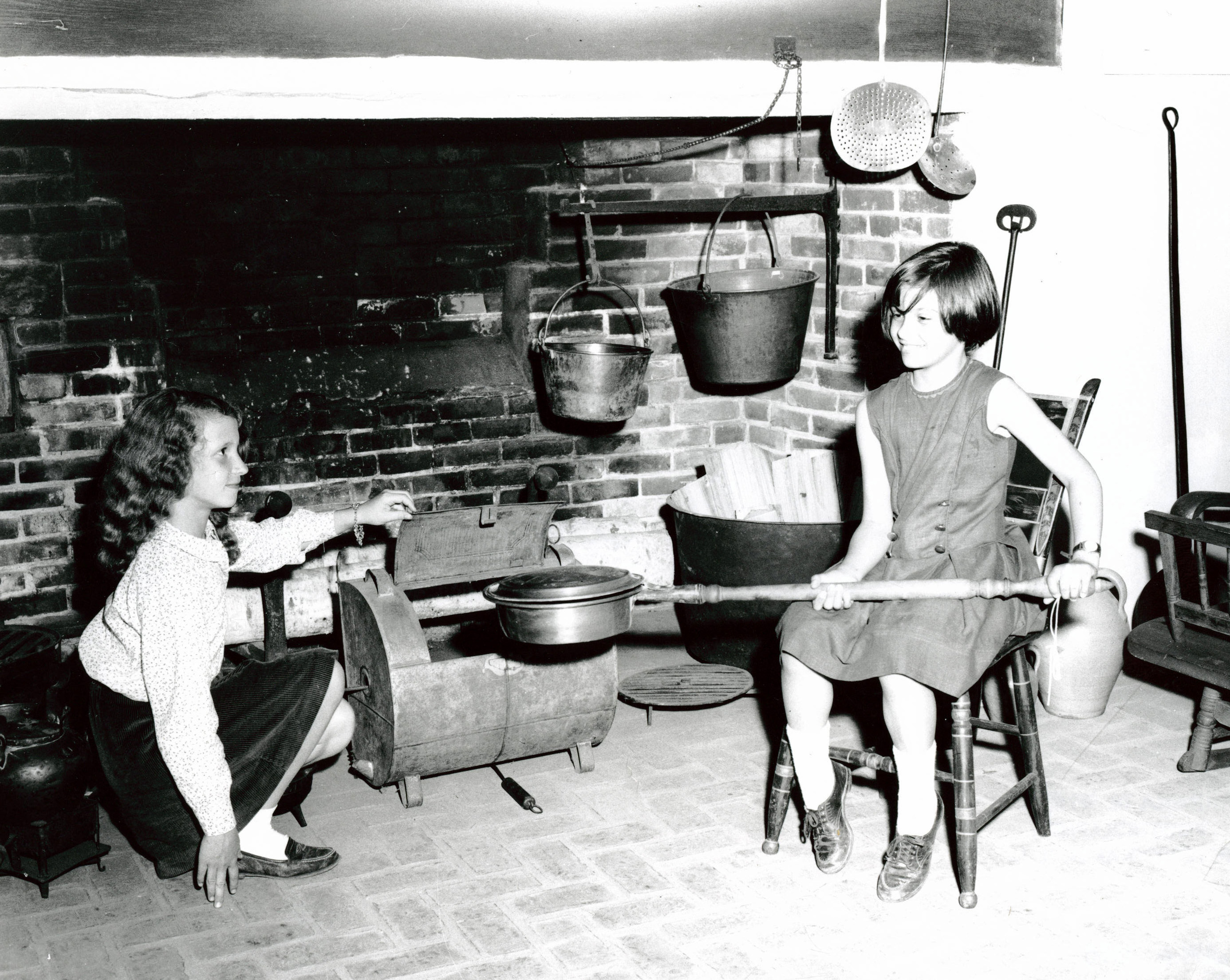 Girls in the Colonial Kitchen in the 1960s