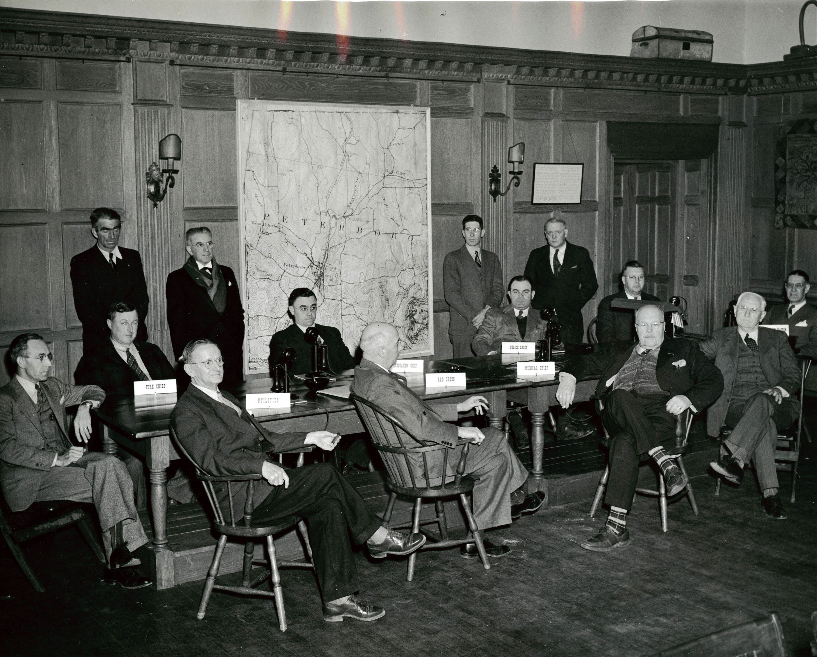 WWII Draft Board in Bass Hall, about 1942