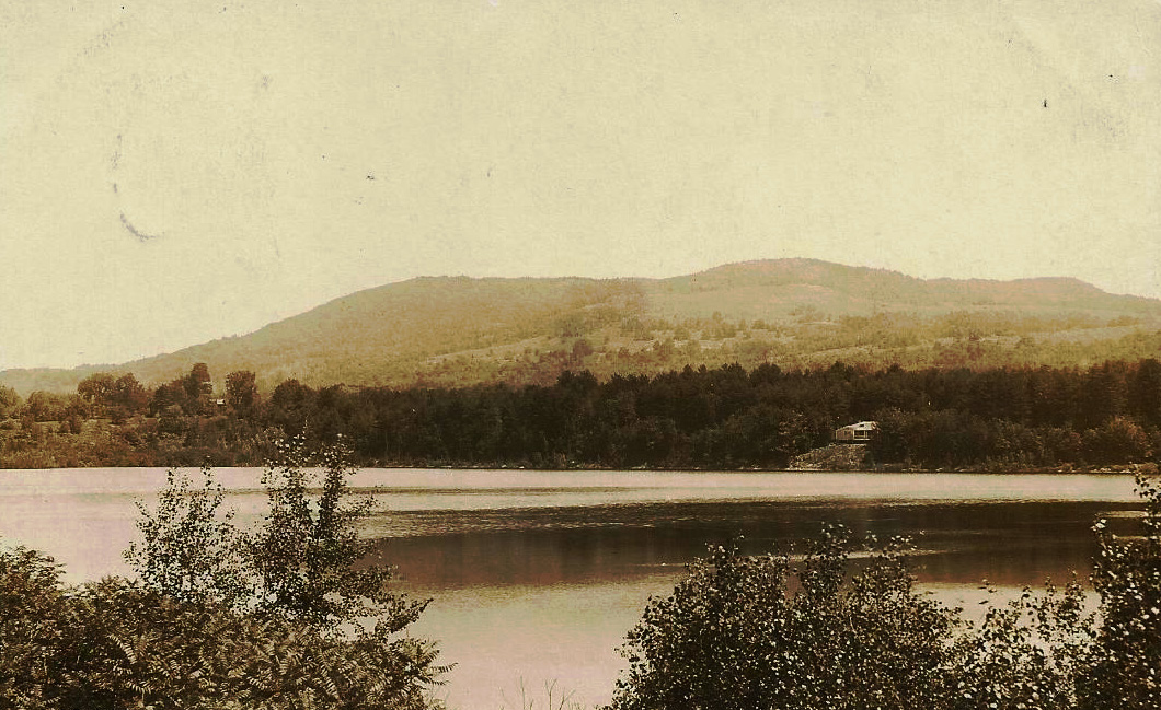 Vintage view of Powder Mill Pond with Crotched Mountain