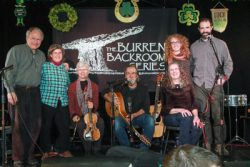 Sarah Bauhan and the Elmwood Station Band onstage at the Burren