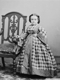 Studio portrait of Lavinia Warren