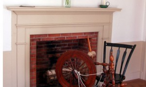 Fireplace in the Phoenix Mill House