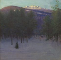 T is for Abbott Thayer Monadnock in Winter
