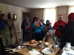 The Youth Select Chorus of the Monadnock Chorus stopped by and entertained us with carols.