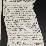 Blueberry Pudding- July 2016 Recipe of the Month