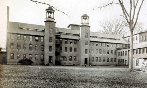 The Phoenix Mill was set to the west of the campus. It was demolished in 19