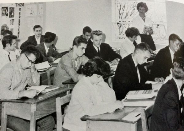 Peterborough High School Classroom with students