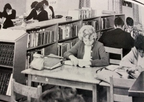 Peterborough High School Students in the library