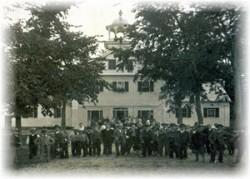 Depot Square - Schoolhouse Circa1875